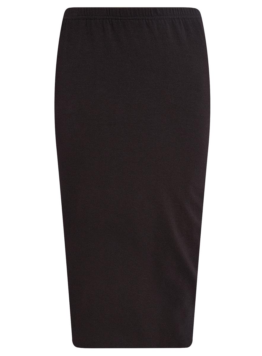 Юбка oodji Ultra, цвет: черный. 14101050/33595/2900N. Размер M (46)14101050/33595/2900NЭффектная юбка oodji выполнена из натурального хлопка, она обеспечит вам комфорт и удобство при носке.Юбка-карандаш двойная оформлена в поясе эластичной резинкой. Модель выполнена в лаконичном однотонном стиле.
