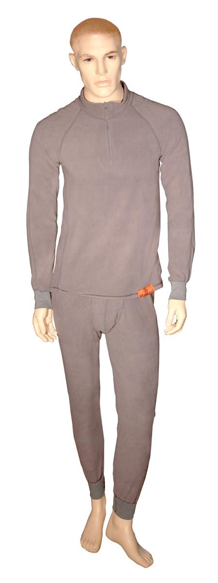 Термобелье комплект (брюки и кофта)ThermoLine ZIPКомплект термобелья Woodland ThermoLine изготавливается из качественного полиэстера. Может использоваться как одежда первого слоя (термобельё), так и как утепляющий флисовый второй слой с другими моделями термобелья Woodland. Материал изделия эластичный, легко тянется. Элементы кроя соединяются плоскими швами, которые при натяжении и под давлением не врезаются в кожу, не вызывают потертостей и ссадин. Комплект термобелья Woodland ThermoLine подходит для активного отдыха в зимний период, для повседневного ношения и длительного пребывания на открытом воздухе в холодном климате. Комплект термобелья Woodland ThermoLine комфортен в использовании, при продолжительном ношении не вызывает зуда. Материал изделия отводит влагу от тела и согревает. При намокании не теряет способности удерживать тепло, быстро сохнет на теле. Спереди от горловины до середины груди разрез, который застегивается на молнию. Температурные показатели: при низкой физической активности - до минус 20 градусов,...
