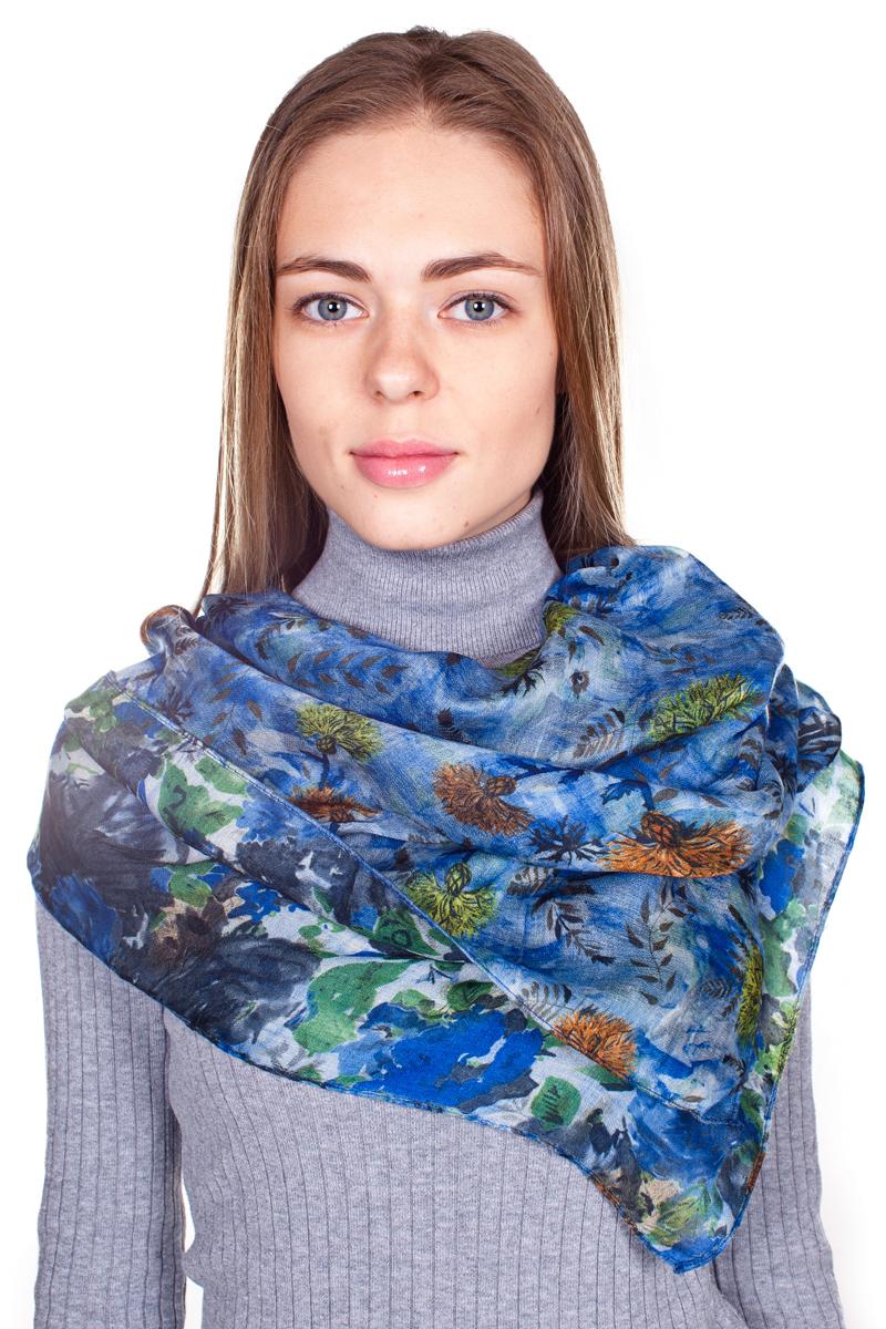 Палантин Sophie Ramage, цвет: синий, коричневый, оранжевый. YY-21682-22. Размер 80 см х 180 смYY-21682-22Стильный женский палантин Sophie Ramage станет великолепным завершением любого наряда.Палантин изготовлен из 100% вискозы и оформлен нежным цветочным принтом. Изящный палантин поможет вам создать изысканный женственный образ, а также согреет в непогоду.