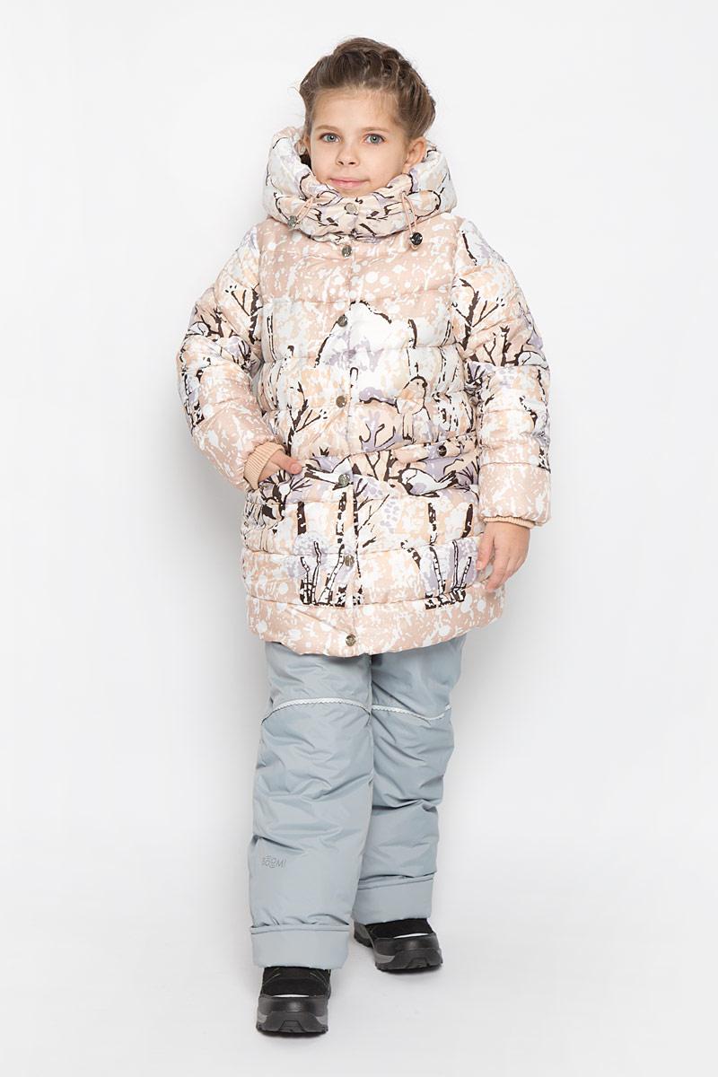Куртка для девочки Boom!, цвет: бежевый, белый, коричневый. 64348_BOG_вар.3. Размер 116, 5-6 лет64348_BOG_вар.3Куртка для девочки Boom!, изготовленная из полиэстера, станет ярким и стильным дополнением к детскому гардеробу. Материал приятный на ощупь, позволяет коже дышать, легко стирается, быстро сушится. Подкладка выполнена из полиэстера с добавлением вискозы с флисовыми вставками. В качестве утеплителя используется синтепон. Модель с капюшоном и длинными рукавами застегивается на пластиковую застежку-молнию и дополнительно имеет внешнюю ветрозащитную планку на кнопках. Капюшон не отстегивается регулируется эластичной резинкой со стопперами, на воротнике застегивается на кнопки. По бокам расположены два прорезных кармана на кнопках.Рукава дополнены трикотажными манжетами. Талия модели регулируется эластичной резинкой со стопперами.Красивый цвет, модный силуэт обеспечивают куртке прекрасный внешний вид!Теплая, удобная и практичная куртка идеально подойдет юной моднице для прогулок!