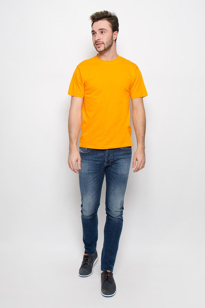 Футболка мужская Frutto Rosso, цвет: желтый. FR-001. Размер L (50)FR-001Мужская однотонная футболка Frutto Rosso выполнена из натурального хлопка. Горловина дополнена трикотажной резинкой.