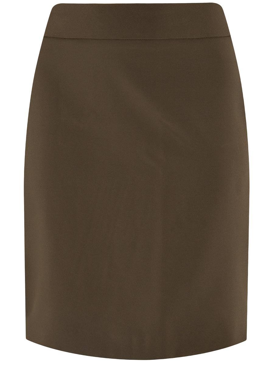 Юбка oodji Ultra, цвет: болотный. 11601204-1/42250/6200N. Размер 36 (42-170)11601204-1/42250/6200NЮбка oodji Ultra выполнена из высококачественного полиэстера с добавлением эластана. Модель-карандаш застегивается сзади по спинке на застежку-молнию. Оформлено изделие оригинальными декоративными молниями с вставками из искусственной кожи. По низу сзади юбка дополнена шлицей.