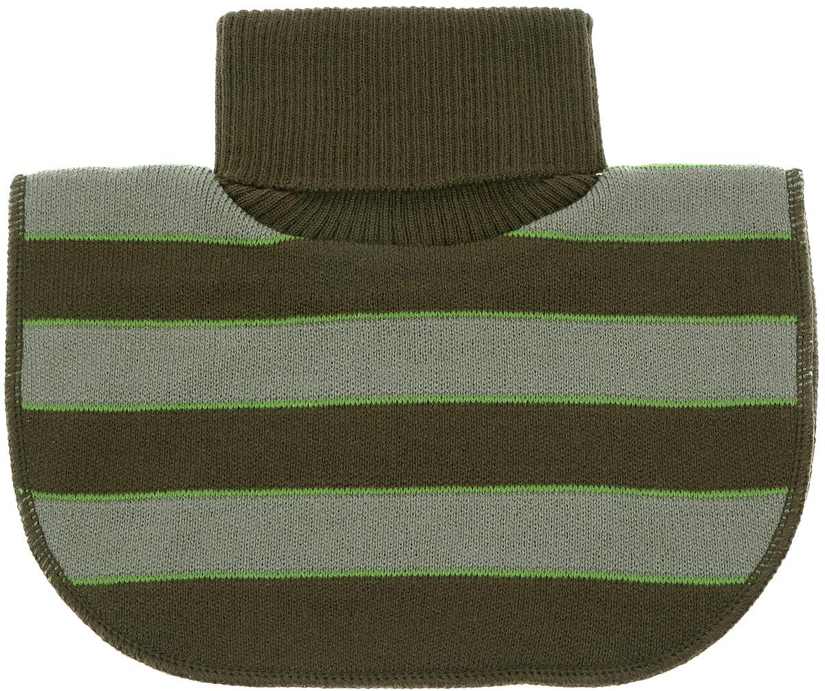 Шарф детскийMM2616-22Модная вязаная манишка для мальчика ПриКиндер - удобный и теплый заменитель шарфа в виде большого воротника, закрывающего шею, идеально подойдет вашему ребенку. Изготовлена модель из акрила с добавлением шерсти, подкладка выполнена из хлопка с добавлением лайкры. Манишка имеет высокий воротник-гольф.
