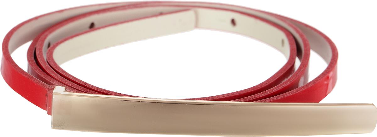 Ремень женский Vittorio Richi, цвет: красный. 4409-25/7z. Размер 1154409-25/7zЭлегантный тонкий ремень Vittorio Richi выполнен из высококачественной лаковой экокожи. Пряжка, выполненная из металла, позволит легко и быстро зафиксировать ремень и отрегулировать его длину. Уважаемые клиенты! Обращаем ваше внимание на тот факт, что размер ремня, доступный для заказа, является его длиной.
