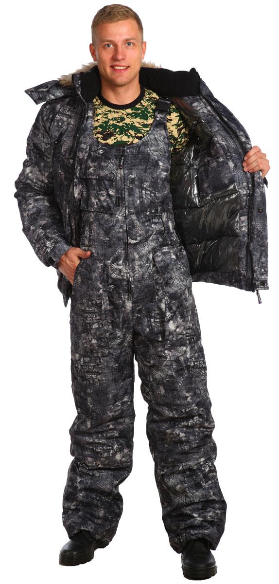 Костюм рыболовный5628Утепленный костюм с укороченной курткой на резинке. Предназначен для холодного времени года, состоит из куртки и полукомбинезона. Произведен с использованием современных технологий - куртка на молнии и кнопках, с большими теплыми нагрудными карманами на молнии ; - высокий, теплый комбинированный флисовый воротник-стойка; - съемный утепленный капюшон с опушкой на кнопках; - рукава на манжетах с эластичной тесьмой, усилены в области локтя накладками; - низ куртки на притачном поясе с эластичной тесьмой; - полукомбинезон с объемными карманами, с двухзамковой молнией, на бретелях с карабинами и эластичными вставками, с усиленными наколенниками и накладками на задних половинках; - низ брюк со шлицами и с вставками на липучке для удобства; - на поясе полукомбинезона удобные широкие шлевки под ремень; - по низу подкладки полукомбинезона расположены защитные юбочки с эластичной тесьмой; - количество карманов - 10.