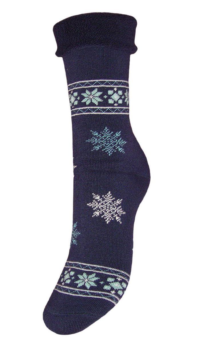 Комплект носковSC29MМахровые женские носки Гранд изготовлены из высококачественного хлопка с добавлением полиамидных и эластановых волокон, они обладают антибактериальными и теплоизолирующими свойствами, хорошо впитывают влагу, не садятся и не деформируются. Изделие оформлено интересным принтом в виде узоров и снежинок. Мягкая резинка с компрессионным эффектом идеально облегает ногу. Мысок и пятка усилены. В комплект входят две пары носков.