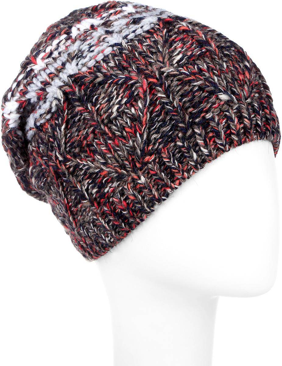 Шапка женская Marhatter, цвет: темно-синий, светло-серый. MLH6834/2. Размер 56/58MLH6834/2Вязаная женская шапка Marhatter отлично подойдет для модниц в холодную погоду. Шапка изготовлена из акрила с добавлением альпки и шерсти. Она мягкая и приятная на ощупь, обладает хорошими дышащими свойствами и максимально удерживает тепло. Край шапки связан резинкой. Изделие оформлено вязаным узором.Уважаемые клиенты!Размер, доступный для заказа, является обхватом головы.