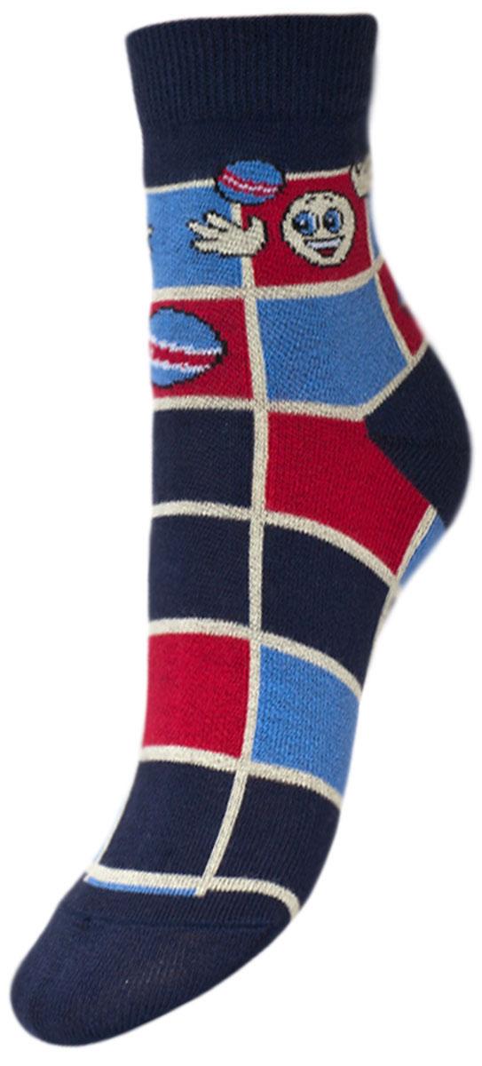 Носки детские Гранд, цвет: синий, 2 пары. YCL35. Размер 18/20YCL35Детские носки выполнены из высококачественного хлопка. Носки с текстурным рисунком квадраты хорошо держат форму и обладают повышенной воздухопроницаемостью, имеют безупречный внешний вид, после стирки не меняют цвет, усиленные пятка и мысок для повышенной износостойкости. Носки долгое время сохраняют форму и цвет, а так же обладают антибактериальными и терморегулирующими свойствами.