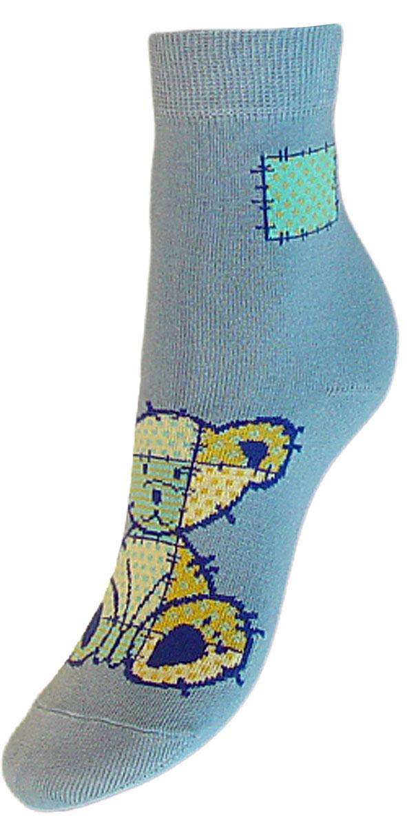Носки детские Гранд, цвет: серо-голубой, 2 пары. YCL41. Размер 16/18YCL41Яркие детские носки Гранд, изготовленные из высококачественного хлопка с добавлением полиамида и эластана, обеспечат тепло ногам и великолепную посадку. Носки оформлены оригинальным принтом. Удобная резинка идеально облегает ногу и не пережимает сосуды, удлиненный паголенок придает более эстетичный вид. Мыс и носок усилены. В комплект входят две пары носков.