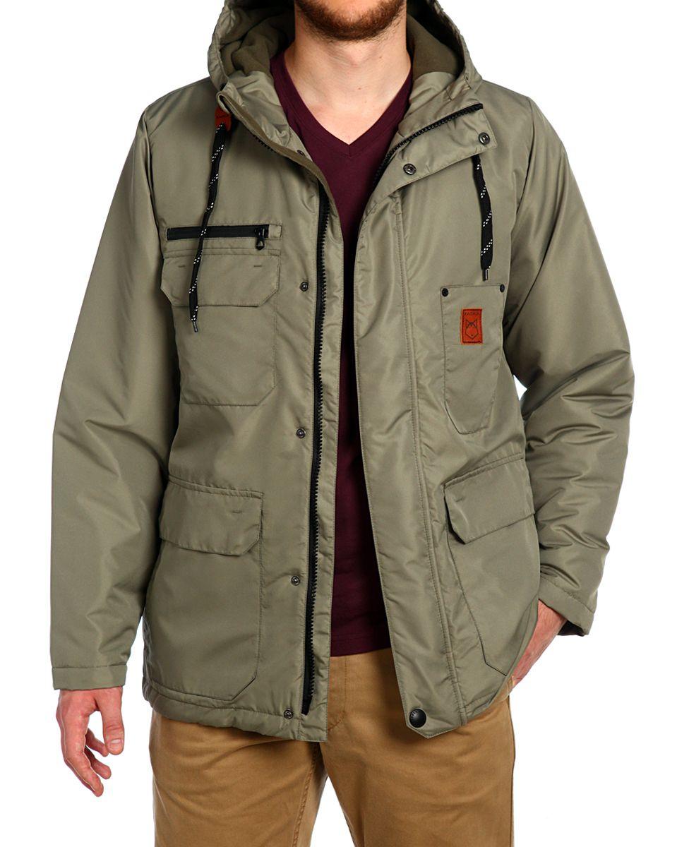 Куртка мужская Xaska, цвет: хаки. 15508. Размер 4815508_KhakiСтильная мужская куртка Xaska превосходно подойдет для холодных дней. Куртка выполнена из полиэстера, она отлично защищает от дождя, снега и ветра, а наполнитель из синтепона превосходно сохраняет тепло. Модель с длинными рукавами и несъемным капюшоном застегивается на застежку-молнию и имеет ветрозащитный клапан на кнопках спереди. Объем капюшона регулируется шнурком-кулиской. Изделие дополнено тремя накладными карманами на клапанах с кнопками, одним накладным без застежек с фирменной нашивкой и тремя втачными передними карманами, а также двумя внутренними втачными карманами на молнии. Низ и объем талии куртки регулируется при помощи шнурка-кулиски. Эта модная и в то же время комфортная куртка согреет вас в холодное время года и отлично подойдет как для прогулок, так и для активного отдыха.