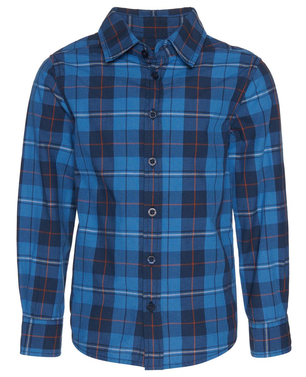 Рубашка2032518.00.82_4543Рубашка Tom Tailor для мальчика выполнена из высококачественного материала. Модель классического кроя с длинными рукавами и отложным воротником застегивается на пуговицы по всей длине. На манжетах предусмотрены застежки-пуговицы. Модель оформлена принтом в клетку.