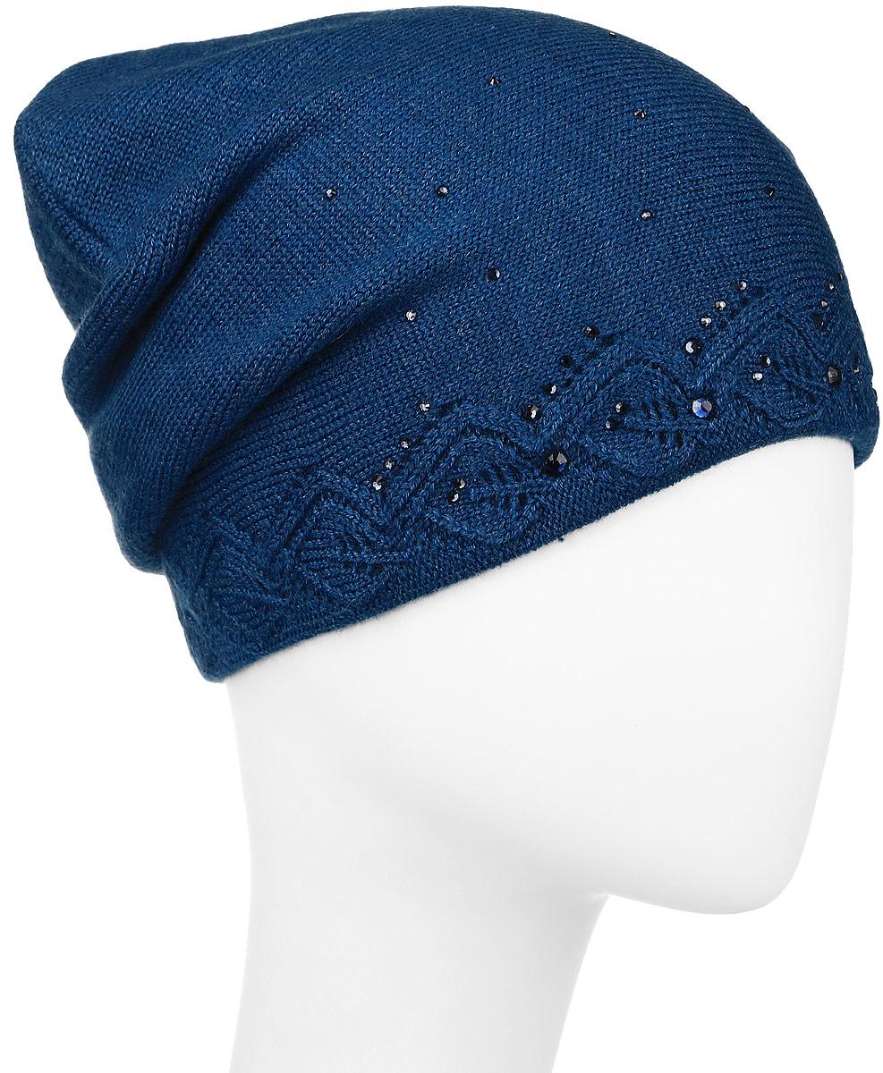 ШапкаW16-11126_709Женская шапка Finn Flare, выполненная из акрила и шерсти, отлично дополнит ваш образ в холодную погоду. Модель по низу связана оригинальным узором. Декорировано изделие стразами и фирменной металлической нашивкой. Шапка составит идеальный комплект с модной верхней одеждой и подарит вам уют и тепло. Уважаемые клиенты! Размер, доступный для заказа, является обхватом головы.