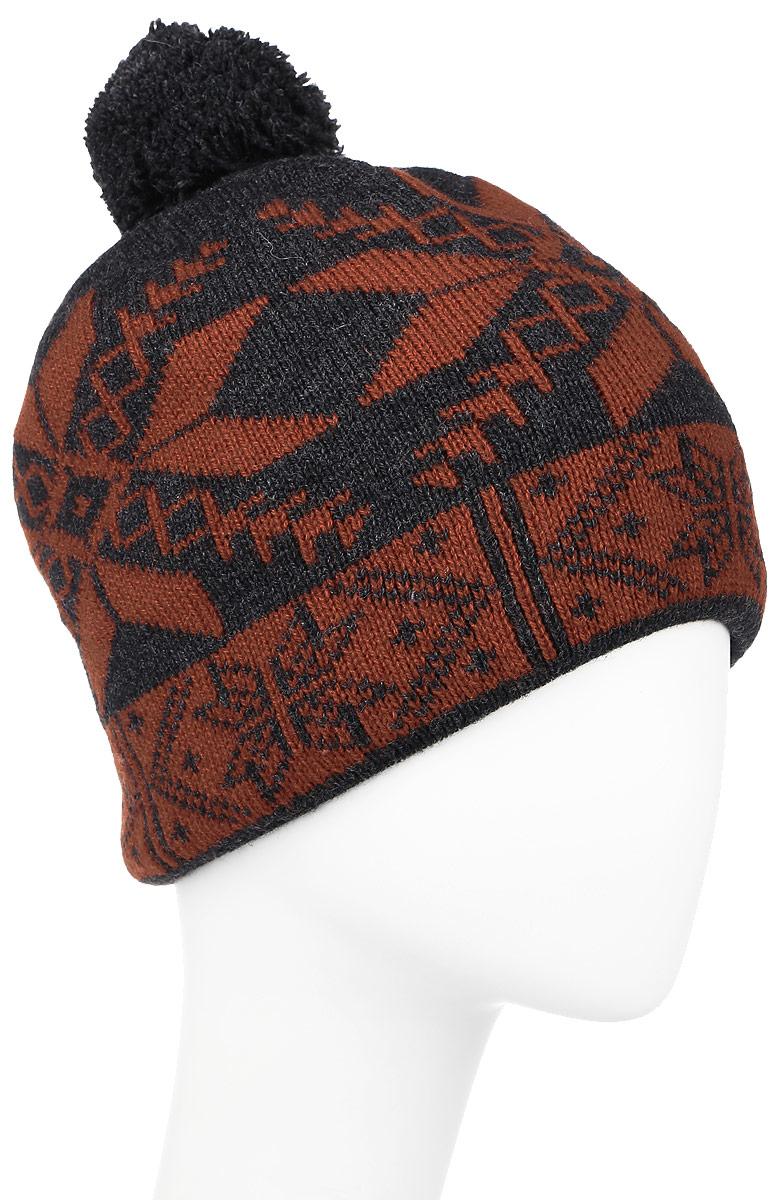 ШапкаW16-22116_200Мужская шапка Finn Flare, выполненная из акрила и шерсти, отлично дополнит ваш образ в холодную погоду. Модель с помпоном оформлена вязаным узором. Декорировано изделие фирменной металлической нашивкой. Шапка составит идеальный комплект с модной верхней одеждой и подарит вам уют и тепло. Уважаемые клиенты! Размер, доступный для заказа, является обхватом головы.