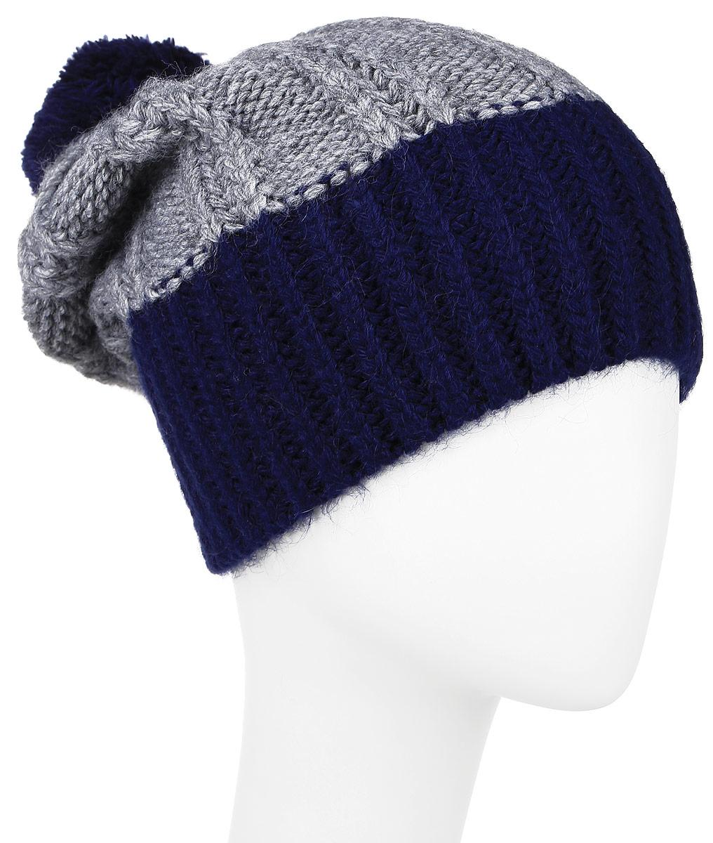 ШапкаW16-42106_101Стильная мужская шапка Finn Flare отлично дополнит ваш образ в холодную погоду. Сочетание шерсти и акрила максимально сохраняет тепло и обеспечивает удобную посадку. Шапка оформлена крупной вязкой и на макушке украшена помпоном. Модель дополнена металлической пластиной с названием бренда. Уважаемые клиенты! Размер, доступный для заказа, является обхватом головы.