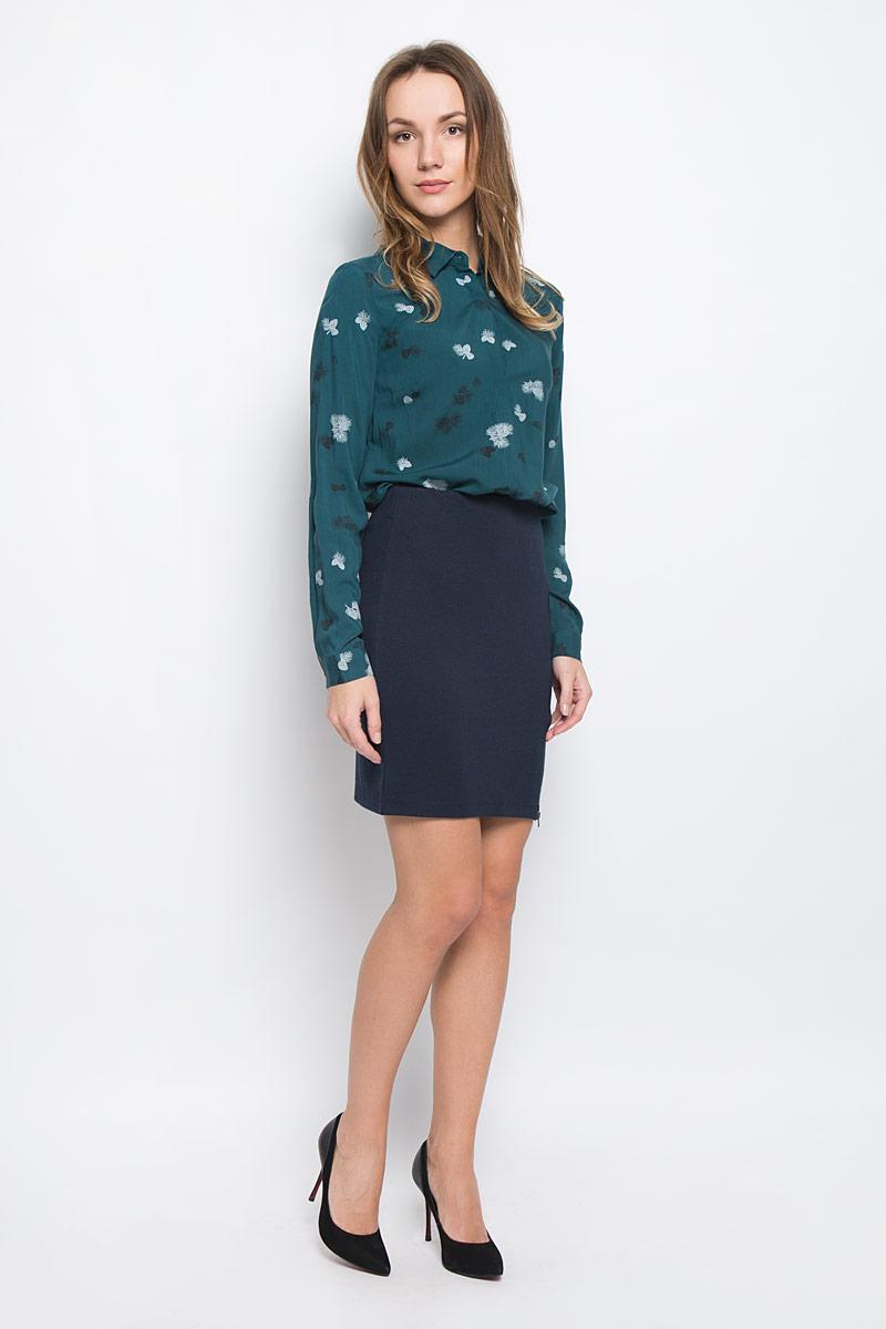 ЮбкаSKk-318/830-6414Стильная юбка Sela Casual выполненная эластичного полиэстера и вискозы. Модель имеет на талии широкую эластичную резинку и застегивается на ассиметричную металлическую молнию.