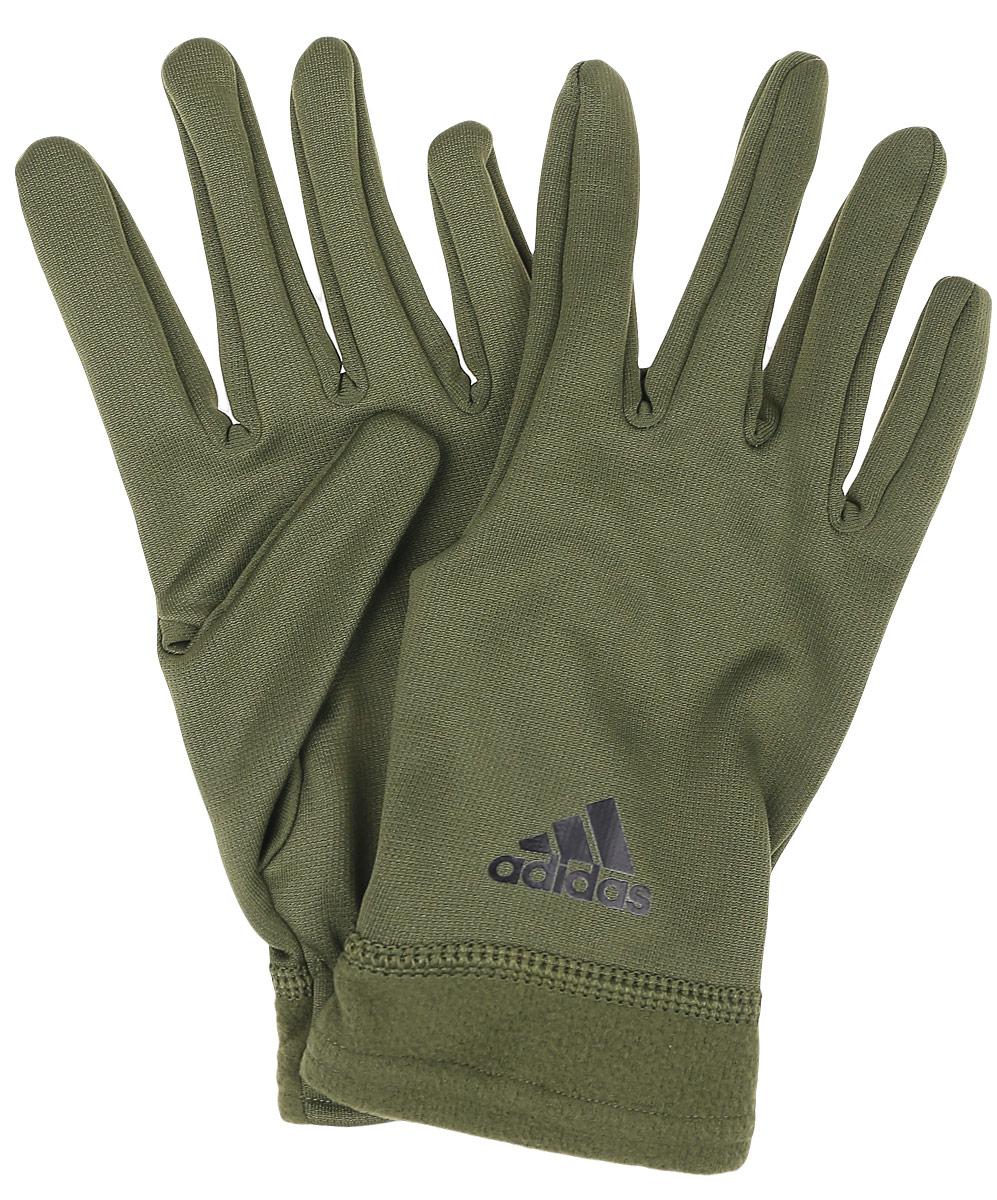 Перчатки adidas CLMWM FLC GL, цвет: оливковый. AY8464. Размер M (20)AY8464Перчатки Adidas изготовлены из полиэстера по технологии climawarm™ . Они созданы для тренировок в холодную погоду, защищают от холода и позволяют коже дышать. Модель оснащена эластичными манжетами с плоскими швами для надежной фиксации на руке.Дышащая технология climawarm™ сохраняет максимум естественного тепла тела даже при отрицательной температуре. Перчатки оформлены набивным логотипом Adidas. Для удобного хранения изделия оснащены пластиковой застежкой, соединяющей их вместе.