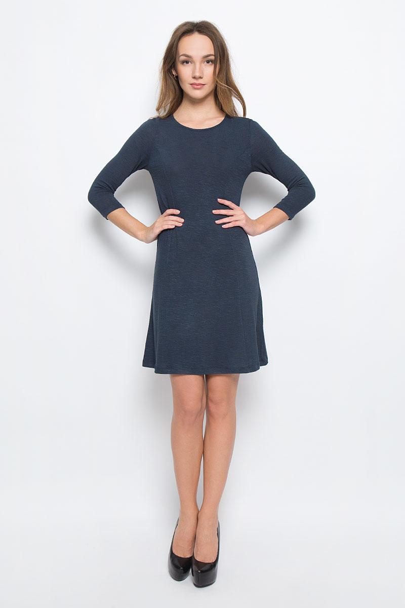 Платье Broadway Racquel, цвет: темно-синий. 10156906_526. Размер XL (50)10156906_526Стильное платье Broadway Racquel выполненное из комбинированного материала отлично дополнит ваш гардероб. Модель А-силуэта с круглым вырезом горловины и рукавами 3/4.