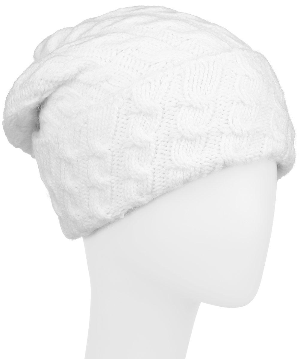 ШапкаW16-32127_201Женская шапка Finn Flare, выполненная из акрила с добавлением шерсти, отлично дополнит ваш образ в холодную погоду. Мягкая подкладка изготовлена из 100% полиэстера. Модель оформлена оригинальной вязкой и дополнена отворотом. Декорировано изделие фирменной металлической нашивкой. Шапка составит идеальный комплект с модной верхней одеждой и подарит вам уют и тепло. Уважаемые клиенты! Размер, доступный для заказа, является обхватом головы.