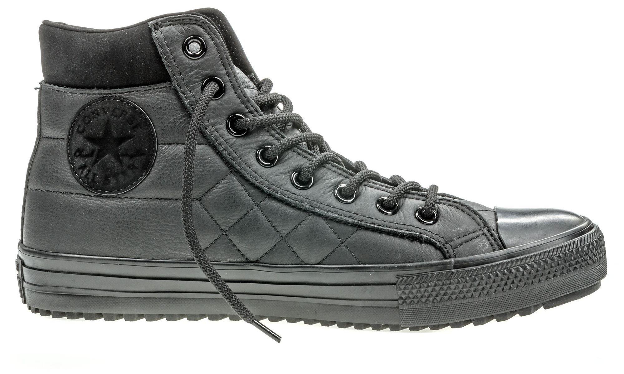 Кеды153669Модные мужские кеды Chuck Taylor All Star Converse Boot Pc от Converse выполнены из натуральной кожи и оформлены стежкой. Мыс модели защищен прорезиненной вставкой. Внутренняя поверхность и стелька из текстиля комфортны при движении. Шнуровка надежно зафиксирует модель на ноге. Подошва дополнена рифлением.