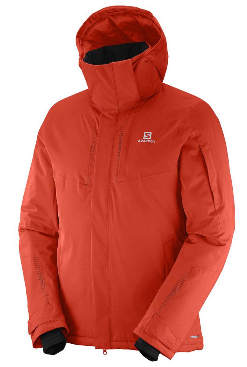 КурткаL38273900Мужская куртка Salomon с капюшоном выполнена из качественного полиэстера. Стильная куртка из структурированного материала в ёлочку в сочетании с утеплителем гарантирует, что вы будете отлично смотреться на склонах лыжного курорта и при этом согревать вас.