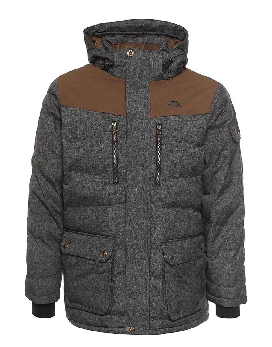 Куртка мужская Trespass Bank, цвет: черный, коричневый. MAJKCAK20002. Размер S (48)MAJKCAK20002Великолепная теплая куртка для русской зимы Trespass Bank выполнена в стиле casual. Утеплитель ColdHeat(синтетический, микроволоконный с функцией быстрого отвода влаги и высоким уровнем теплозащиты и износостойкости). Прекрасно подойдет как для города, так и для отдыха на природе.
