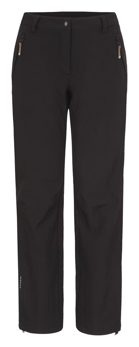 Брюки женские Icepeak Savita, цвет: черный. 654020542IV. Размер 46 (52)654020542IVЖенские брюки от Icepeak выполнены из эластичного полиэстера, с изнаночной стороны они утеплены флисом. Модель застегивается на пуговицу в талии и ширинку на молнии, имеются шлевки для ремня. Спереди брюки дополнены двумя врезными карманами на застежках-молниях. Изделие оснащено светоотражающими элементами.Рекомендуемый температурный режим для данной модели до -5°С из расчета на среднюю физическую активность, ходьбу 4 км/ч.