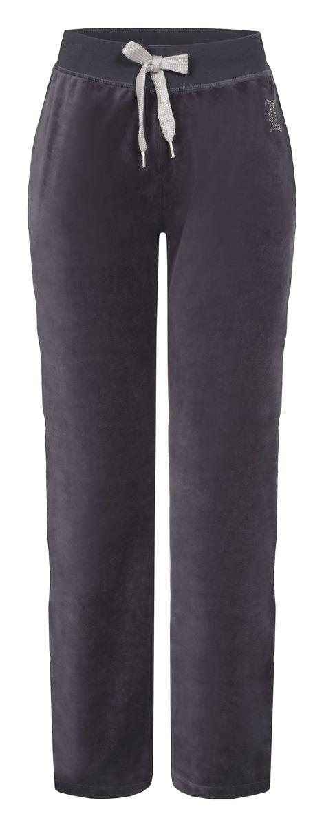 Брюки спортивные женские Luhta Selja, цвет: дымчатый. 636734324LV. Размер XL (48)636734324LVУдобные женские спортивные брюки Luhta Selja великолепно подойдут для отдыха и занятий спортом. Изготовленные из высококачественного материала, они необычайно мягкие и легкие.Модель дополнена широкими эластичными резинками на поясе. Объем талии регулируется с внешней стороны при помощи шнурка-кулиски. Оформлено изделие небольшой аппликацией из страз в виде названия бренда .