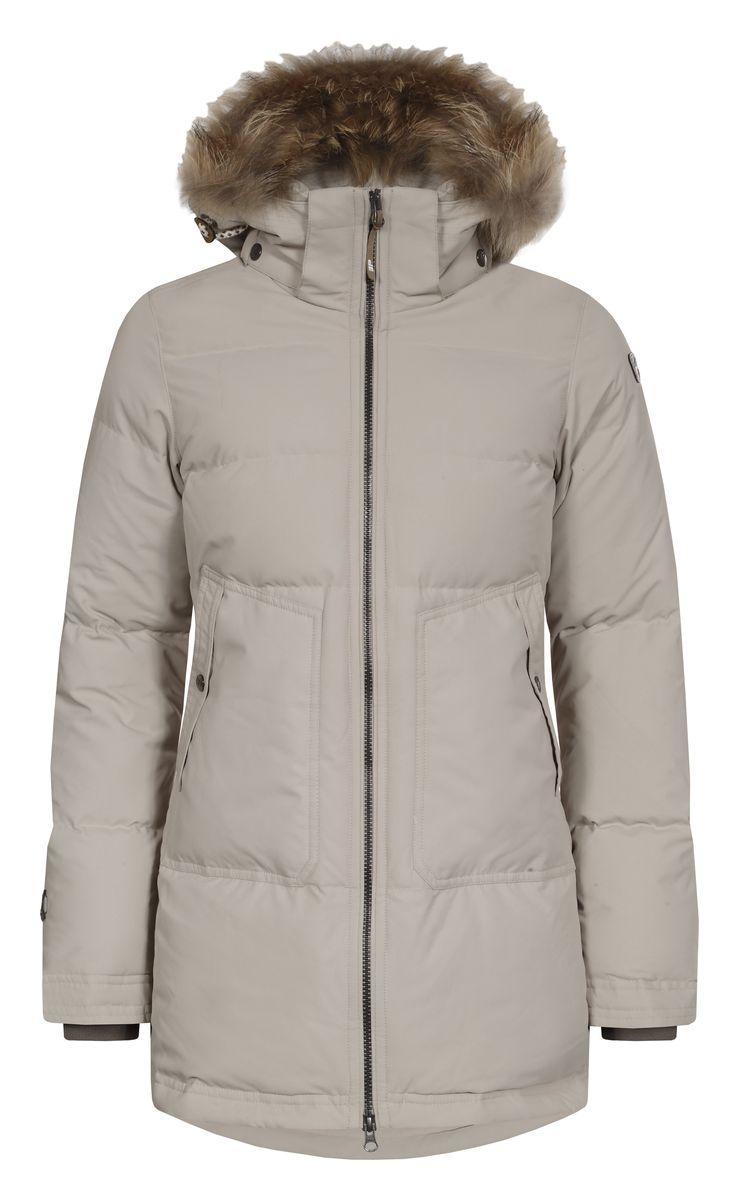 Куртка653054532IVЖенская куртка Icepeak Teresa выполнена из 100% полиэстера. Материал изготовлен при помощи технологии Icemax, которая обеспечит вам надежную защиту от ветра и влаги. В качестве подкладки также используется полиэстер. Утеплителем служит материал FinnWad, который обладает высокими теплоизоляционными свойствами. Модель с воротником-стойкой и съемным капюшоном застегивается на застежку-молнию с двумя бегунками и имеет внутреннюю ветрозащитную планку. Капюшон, оформленный искусственным мехом, пристегивается к изделию за счет застежку-молнии и кнопок. Кроай капюшона дополнен шнурком-кулиской. Низ рукавов дополнен внутренними эластичными манжетами. Объем по талии регулируется за счет скрытого шнурка-кулиски. В боковых швах расположены застежки-молнии. Спереди расположено два накладных кармана на кнопках, а с внутренней стороны - накладной карман-сетка и прорезной карман на застежке-молнии. На рукавах расположены фирменные нашивки.