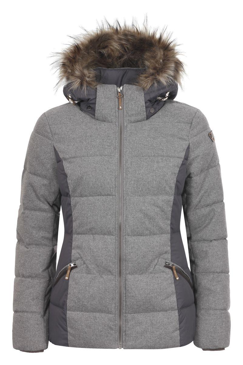 Куртка653045562IVЖенская куртка Icepeak Tiffi, изготовленная из водоотталкивающей и ветрозащитной ткани, которая создает оптимальный микроклимат внутри куртки, утеплена синтепоном. Наполнитель - изготовленный из полиэстера материал Super Soft Touch, состоящий из множества слоев тончайших волокон, которые обеспечивают отличную термоизоляцию, но не утяжеляют изделие. Куртка с воротником-стойкой и съемным капюшоном застегивается на молнию. Капюшон, оформленный искусственным мехом, пристегивается при помощи кнопок и молнии и регулируется с помощью эластичной резинки со стопперами. Рукава оснащены внутренними трикотажными манжетами. Спереди куртка дополнена двумя втачными карманами на застежках-молниях, а с внутренней стороны расположены один накладной карман-сетка и один втачной карман на молнии. Низ куртки дополнен шнурком-кулиской со стопперами.
