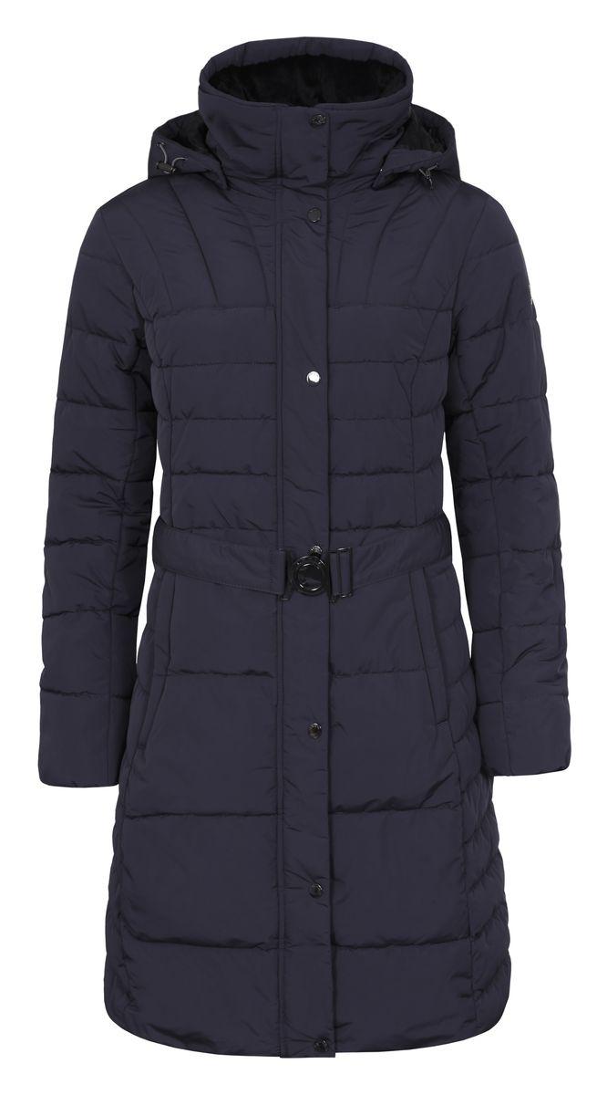 Куртка636451396LVЖенское пальто Vero Moda с длинными рукавами, воротником-стойкой и съемным капюшоном на застежке-молнии выполнено из полиэстера. Объем капюшона регулируется при помощи шнурка-кулиски. Пальто застегивается на застежку-молнию спереди, оснащено ветрозащитным клапаном на кнопках. Изделие дополнено двумя втачными карманами на застежках-молниях спереди. Пальто оснащено широким поясом с металлической застежкой. Модель украшена стеганым узором.