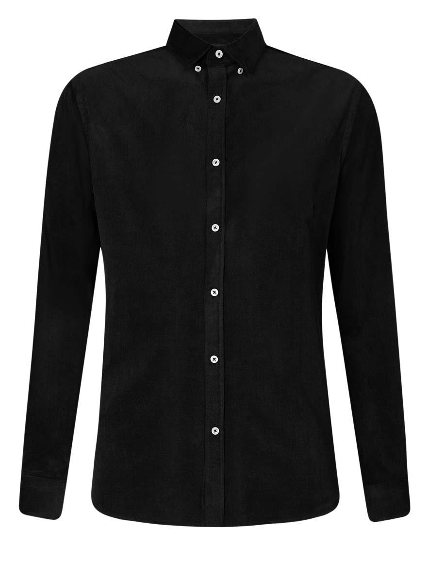 Рубашка мужская oodji Lab, цвет: черный. 3L110218M/44424N/2900N. Размер 39 (46-182)3L110218M/44424N/2900NСтильная мужская рубашка oodji Lab, выполненная из эластичного хлопка, позволяет коже дышать, тем самым обеспечивая наибольший комфорт при носке. Модель-слим с отложным воротником и длинными рукавами застегивается на пуговицы по всей длине. Манжеты рукавов оснащены застежками-пуговицами. Воротник пристегивается к рубашке с помощью пуговиц.