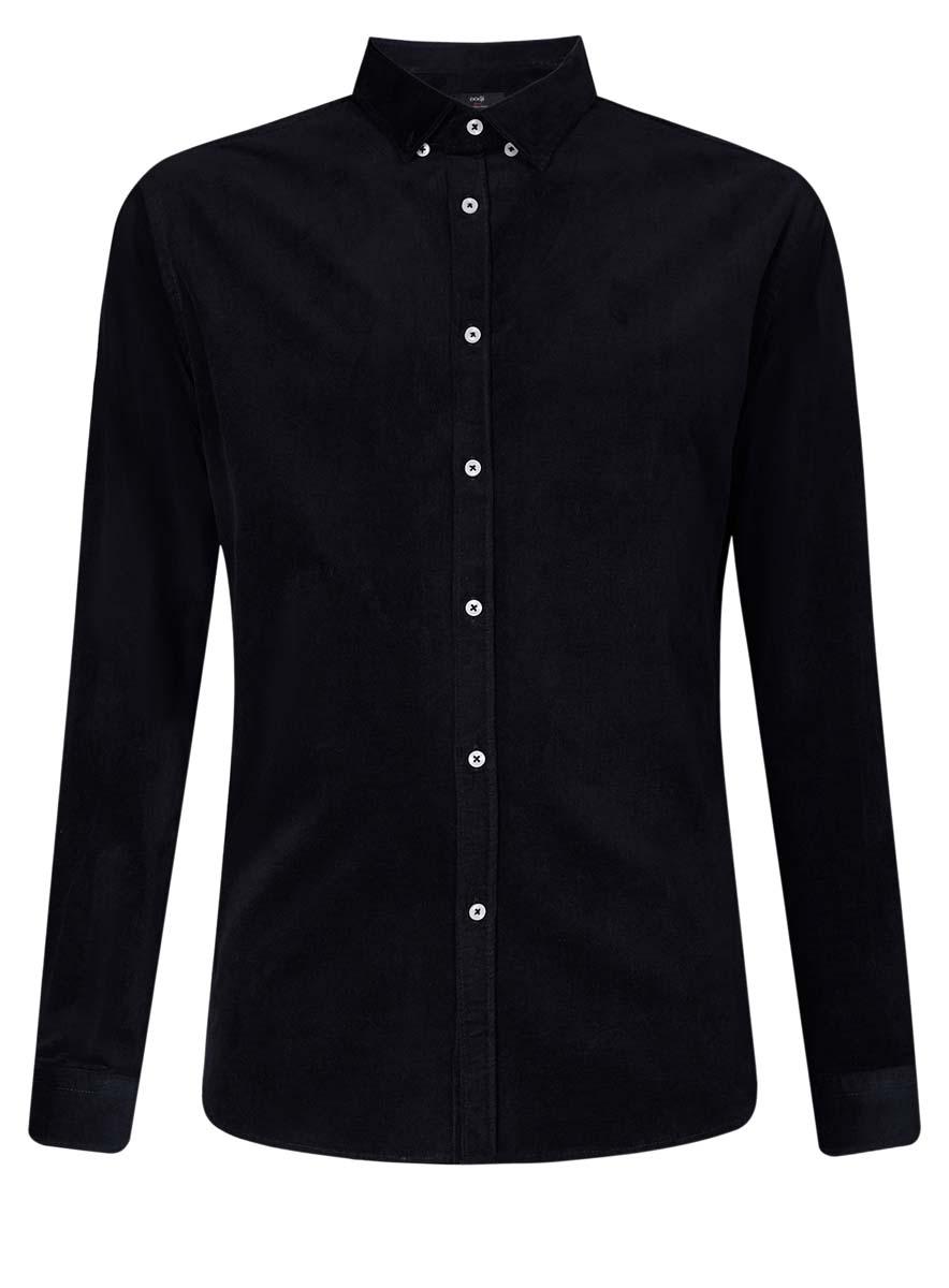 Рубашка мужская oodji Lab, цвет: темно-синий. 3L110218M/44424N/7900N. Размер 39 (46-182)3L110218M/44424N/7900NСтильная мужская рубашка oodji Lab, выполненная из эластичного хлопка, позволяет коже дышать, тем самым обеспечивая наибольший комфорт при носке. Модель-слим с отложным воротником и длинными рукавами застегивается на пуговицы по всей длине. Манжеты рукавов оснащены застежками-пуговицами. Воротник пристегивается к рубашке с помощью пуговиц.