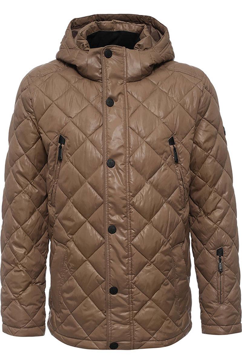 Куртка мужская Finn Flare, цвет: серо-коричневый. W16-21002_613. Размер XXXL (56)W16-21002_613Стильная мужская куртка Finn Flare изготовлена из высококачественного полиэстера. В качестве утеплителя используется полиэстер.Куртка с воротником-стойкой и съемным капюшоном застегивается на застежку-молнию и дополнительно на клапан с кнопками. Капюшон, дополненный регулирующим эластичным шнурком, пристегивается к куртке с помощью кнопок и липучек. Спереди расположены четыре прорезных кармана на застежках-молниях, на рукаве - прорезной карман на застежке-молнии, с внутренней стороны - прорезной карман на застежке-молнии и два накладных кармана на пуговицах.Манжеты рукавов дополнены трикотажными напульсниками. Нижняя часть модели регулируется с помощью эластичного шнурка со стопперами.