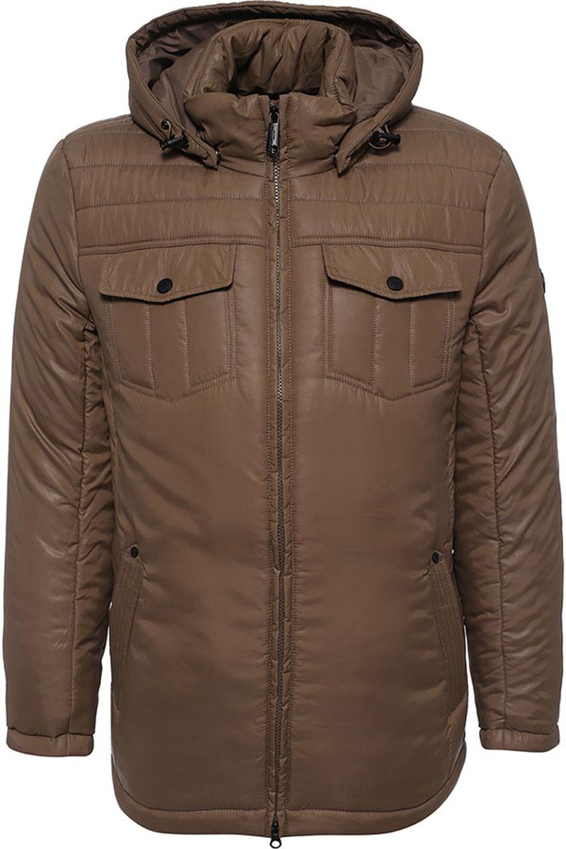 КурткаW16-21003_202Стильная мужская куртка Finn Flare превосходно подойдет для прохладных дней. Куртка выполнена из высококачественного материала с подкладкой и наполнителем из полиэстера. Модель классического прямого кроя с длинными рукавами и воротником-стойкой застегивается на молнию. Капюшон пристегивается на кнопки, имеет на макушке хлястик на липучке и дополнен утягивающей резинкой на стопперах. Спереди изделие дополнено двумя втачными карманами на молнии и двумя накладными карманами с клапанами на кнопках. На внутренней стороне куртка оформлена одним прорезным карманом на молнии и двумя втачными карманами на пуговице. По низу модель регулируется в размере с помощью стопперов.