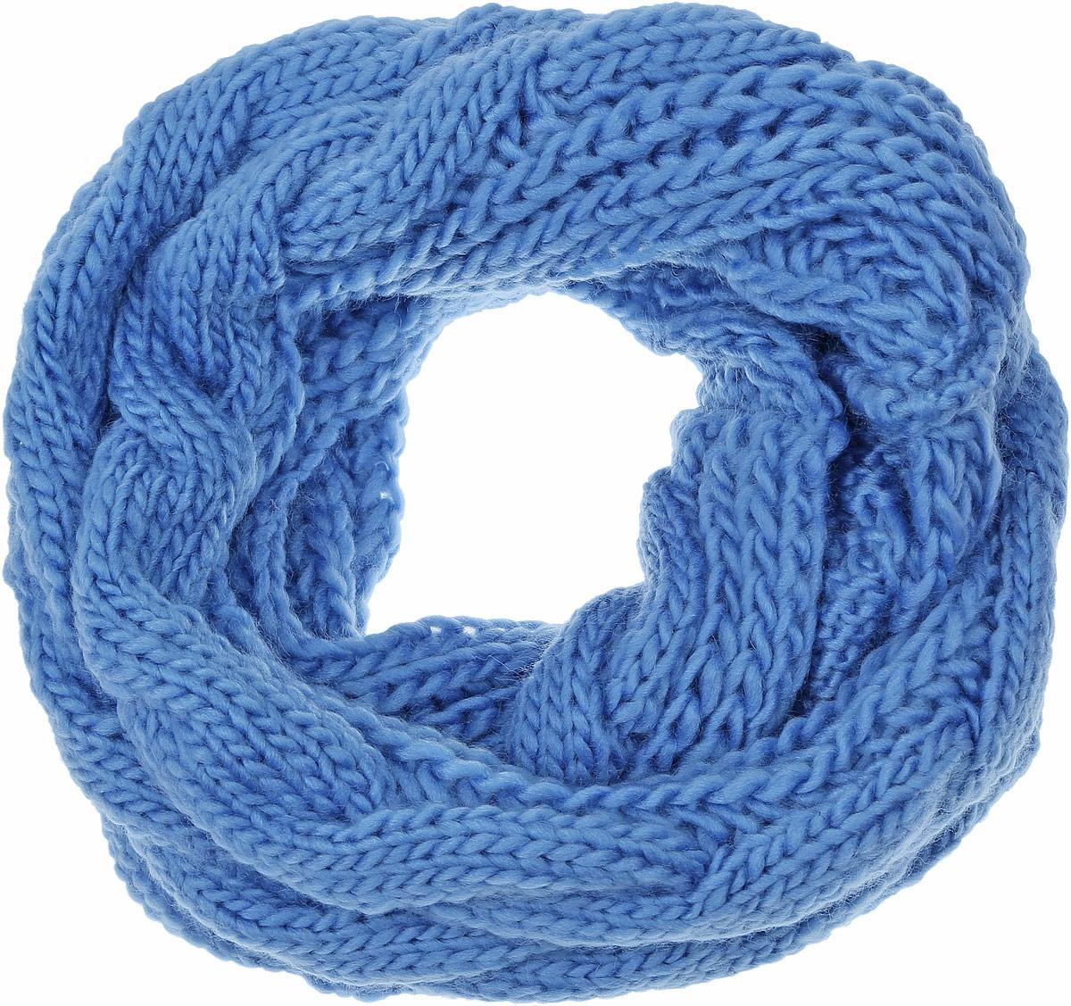 Снуд-хомут женский Vittorio Richi, цвет: синий. V2592-В27. Размер 33 см х 68 смV2592-В27Женский вязаный снуд-хомут Vittorio Richi выполнен из модала с добавлением мохера. Модель оформлена крупной вязкой.