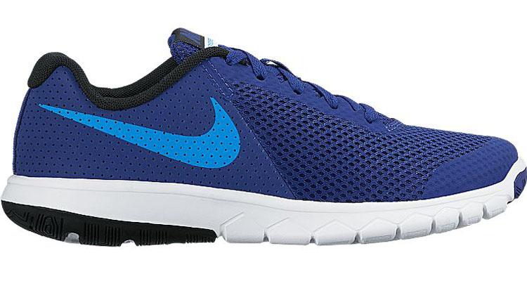 Кроссовки844995-001Стильные детские кроссовки Flex Experience 5 от Nike выполнены из дышащего текстиля и натуральной кожи, оформленной перфорацией, и дополнены бесшовными накладками. Внутренняя поверхность и стелька из текстиля комфортны при движении. Шнуровка надежно зафиксирует модель на ноге. Промежуточная подошва обеспечивает дополнительную амортизацию. Подошва с особым протектором гарантирует надежное сцепление с твердой поверхностью