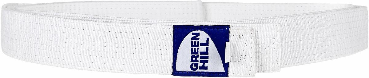 Пояс для карате Green Hill, цвет: белый. G-1014H. Размер 280G-1014HПояс для карате Green Hill - универсальный пояс для кимоно. Пояс выполнен из плотного хлопкового материала с многорядной прострочкой. Модель дополнена текстильной нашивкой с названием бренда.