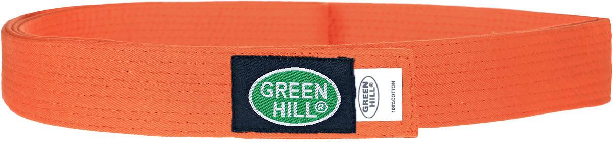 Пояс для кикбоксинга Green Hill 7-Contact, цвет: оранжевый. KBB-1015. Размер 160KBB-1015Пояс для кикбоксинга Green Hill 7-Contact выполнен из плотного хлопкового материала с многорядной прострочкой. Модель дополнена текстильной нашивкой с названием бренда.
