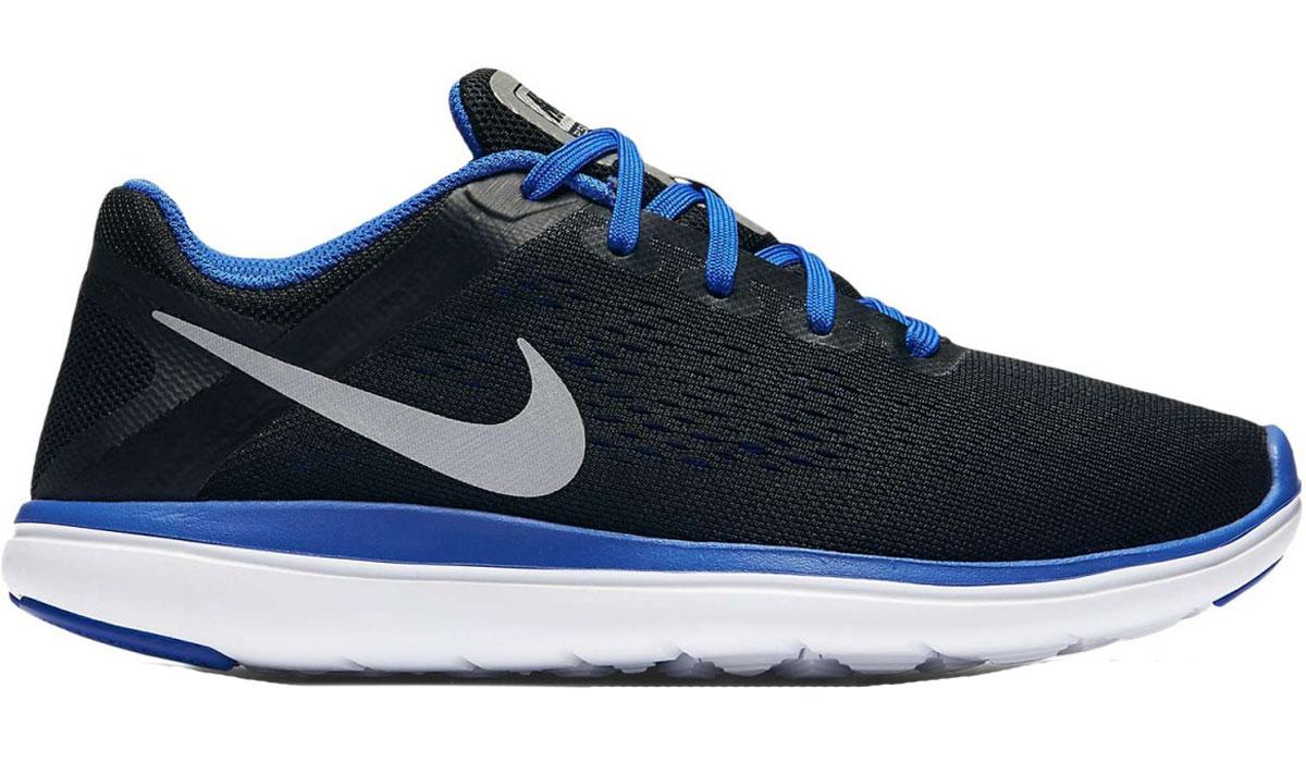 Кроссовки детские Nike Flex 2016 RN, цвет: черный. 834275-005. Размер 5,5 (37,5)834275-005Детские кроссовки Flex 2016 RN от Nike выполнены из текстиля и дополнены бесшовными накладками. Внутренняя поверхность из текстиля не натирает. Шнуровка надежно зафиксирует модель на ноге. Технология подошвы Flex гарантирует оптимальную амортизацию. Подошва дополнена рифлением.