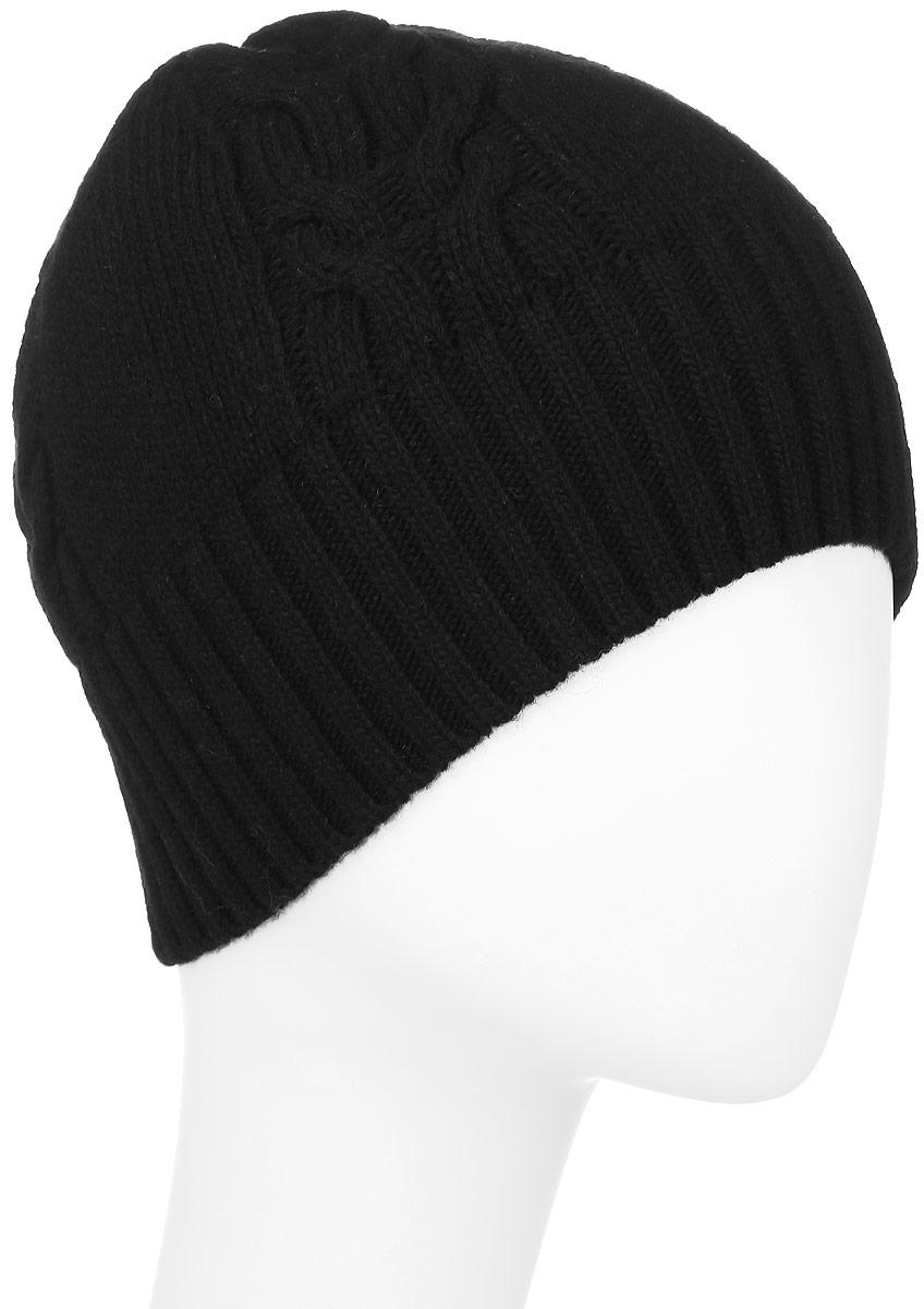 ШапкаF2261927N-18Вязаная женская шапка Vittorio Richi выполнена из шерсти с добавлением полиамида. Модель оформлена вязаным узором и украшена небольшой металлической пластиной. Уважаемые клиенты! Размер, доступный для заказа, является обхватом головы.