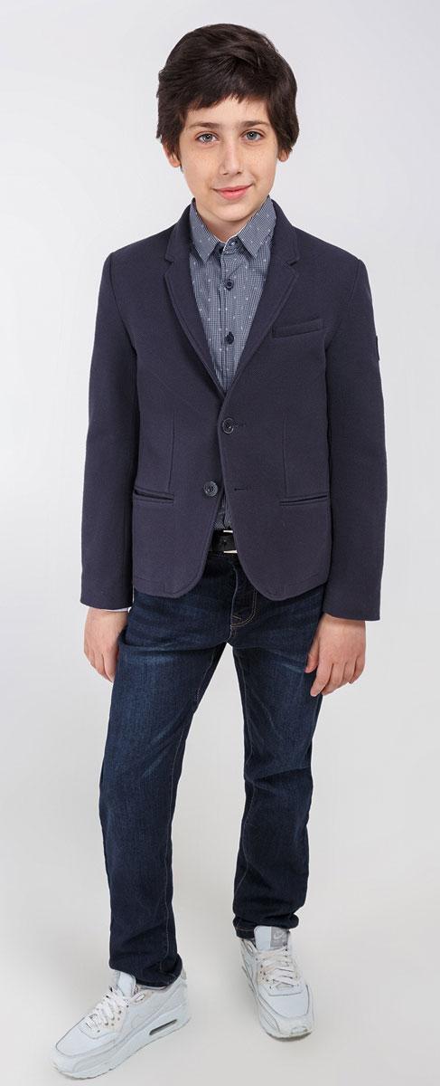 Пиджак20110130050_600Стильный пиджак для мальчика Acoola Einstein станет отличным дополнением к школьному гардеробу в прохладные дни. Изготовлен из высококачественного материала. Пиджак с воротничком с лацканами застегивается на пластиковые пуговички. Низ рукавов дополнен декоративными пуговицами. Спереди пиджак оформлен двумя прорезными карманами в нижней части и небольшим прорезным кармашком на груди. Сзади предусмотрена шлица. В таком пиджачке ваш маленький мужчина будет чувствовать себя комфортно, уютно и всегда будет в центре внимания!