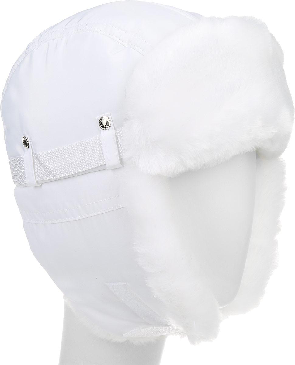 Шапка-ушанка детская Ёмаё, цвет: белый. 51-900. Размер 52/5451-900Теплая детская шапка-ушанка Ёмаё выполнена из высококачественного полиэстера с подкладкой из полиэстера. На ушках модель дополнена хлястиком на липучке он позволяет зафиксировать модель под подбородком. Дополнено изделие отделкой из искусственного меха, а также декоративными хлястиками на металлических кнопках.Уважаемые клиенты! Обращаем ваше внимание на тот факт, что размер, доступный для заказа, является обхватом головы.