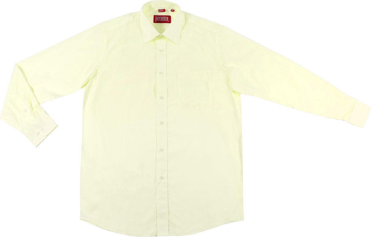РубашкаOasisМужская рубашка Imperator выполнена из хлопка с добавлением полиэстера. Рубашка прямого кроя с длинными рукавами и отложным воротником застегивается на пуговицы. Модель дополнена одним нагрудным карманом.