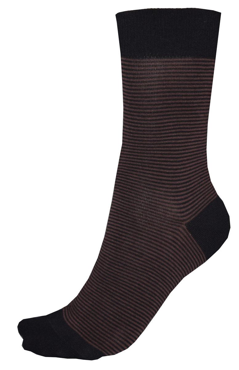 Носки мужские Burlesco, цвет: коричневый, черный. C812. Размер 31 (45-46)C812Мужские носки Burlesco изготовлены из высококачественного хлопка с добавлением полиэстера, полиамида и эластана. Носки комфортно прилегают к ноге без образования складок. Идеальны для повседневной носки. Изделие оснащено широкой эластичной мягкой резинкой. Мысок и пятка усилены. Оформлены узором в виде полос.