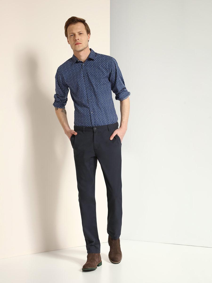 Брюки мужские Top Secret, цвет: темно-синий. SSP2397GR. Размер 33 (48/50)SSP2397GRСтильные мужские брюки Top Secret выполнены из натурального хлопка. Брюки-слим стандартной посадки застегиваются на пуговицу в поясе и ширинку на застежке-молнии. Модель имеет шлевки для ремня. Спереди модель оформлена двумя втачными карманами, а сзади - двумя прорезными карманами на пуговицах.