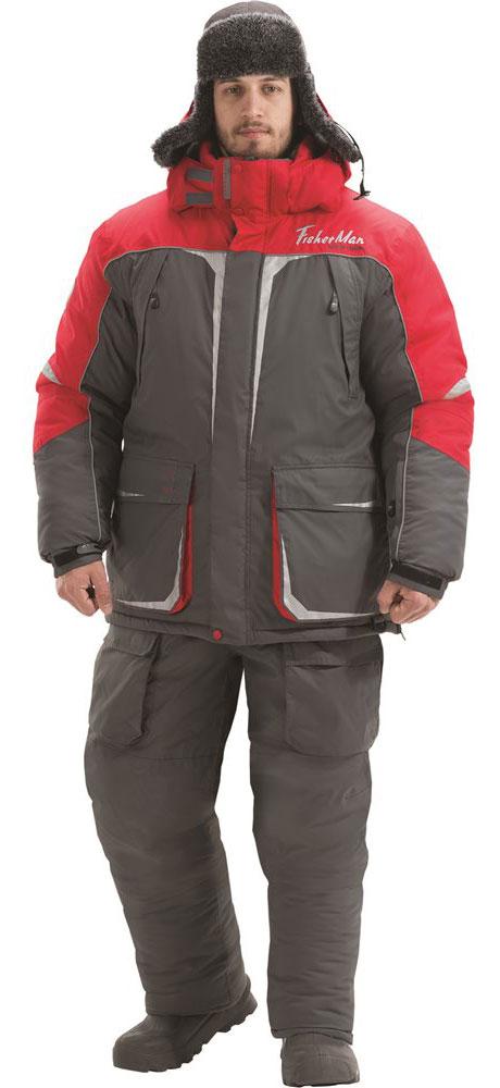 Костюм рыболовный95845-052Очень теплый костюм для любителей малоактивной зимней рыбалки. Большие количество карманов, свободный крой, не стесняющий движения, несмотря на визуальную объемность. Не стоит забывать, что это годами проверенный костюм, в новой версии он стал более ярким и технологичным. Высокая плотность ткани и мембрана защитят от ветра и осадков, Объемный капюшон можно одеть поверх любого головного убора, высокий воротник создаст дополнительное чувство комфорта и защищенности от стихии. Влагостойкость: 5000 мм. Паропроницаемость: 5000 мл./м.кв./24часа.