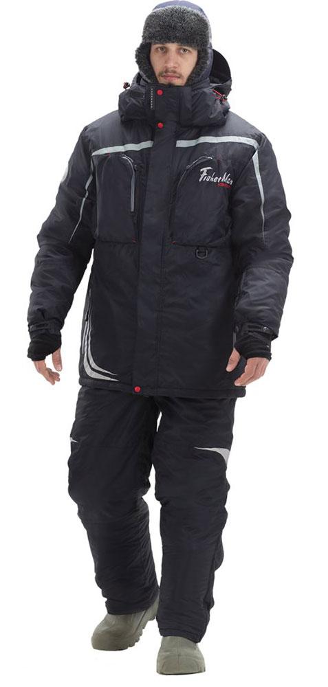 Костюм рыболовный мужской FisherMan Nova Tour Салмон V2, цвет: черный. 95846-901. Размер XS (46)95846-901Активная рыбалка в холодное время года - вот девиз этого костюма! Все максимально настроено на сохранение тепла, максимальный комфорт и подвижность! Этот костюм был проверен в водомоторных соревнованиях поздней осенью, командой по зимней блесне и конечно - же сотнями любителей зимнего спиннинга!Большие нагрудные карманы вместят коробки с приманками, высокий воротник и анатомический капюшон защитят в любой ветер, а мембранная ткань и высокотехнологичный утеплитель защитят от осадков и согреют от холода!Влагостойкость: 10000 мм. Паропроницаемость: 10000 мл./м.кв./24часа.