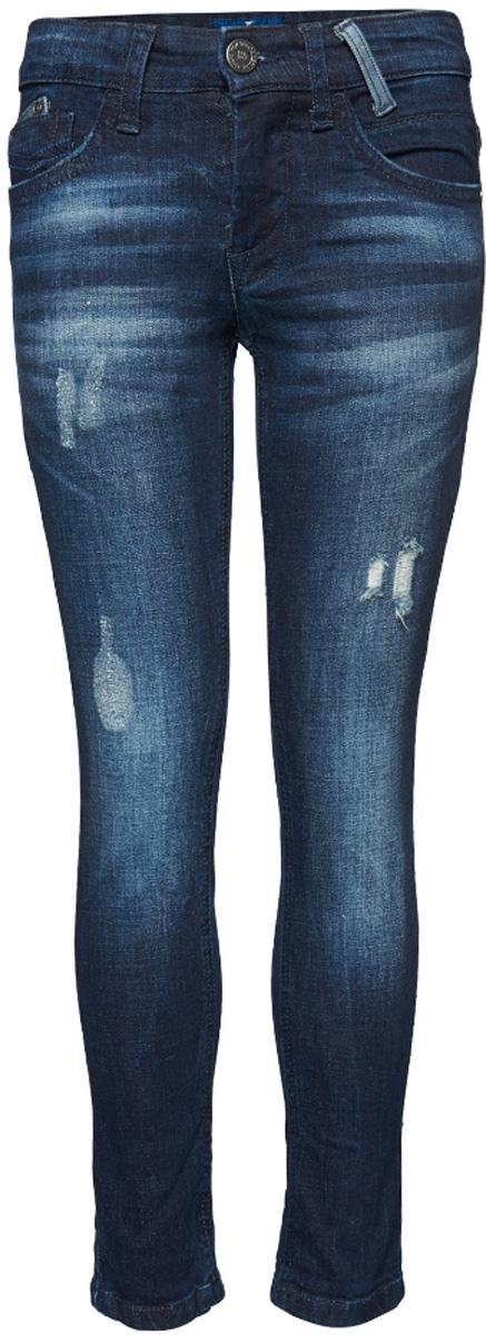 Джинсы6205111.00.30_1000Стильные джинсы Tom Tailor выполнены из высококачественного материала. Модель на талии застегивается на металлическую пуговицу и имеет ширинку на застежке-молнии, а также шлевки для ремня. Джинсы имеют классический пятикарманный крой: спереди два втачных кармана и один накладной кармашек, а сзади - два накладных кармана. Оформлено изделие дырками и потертостями.