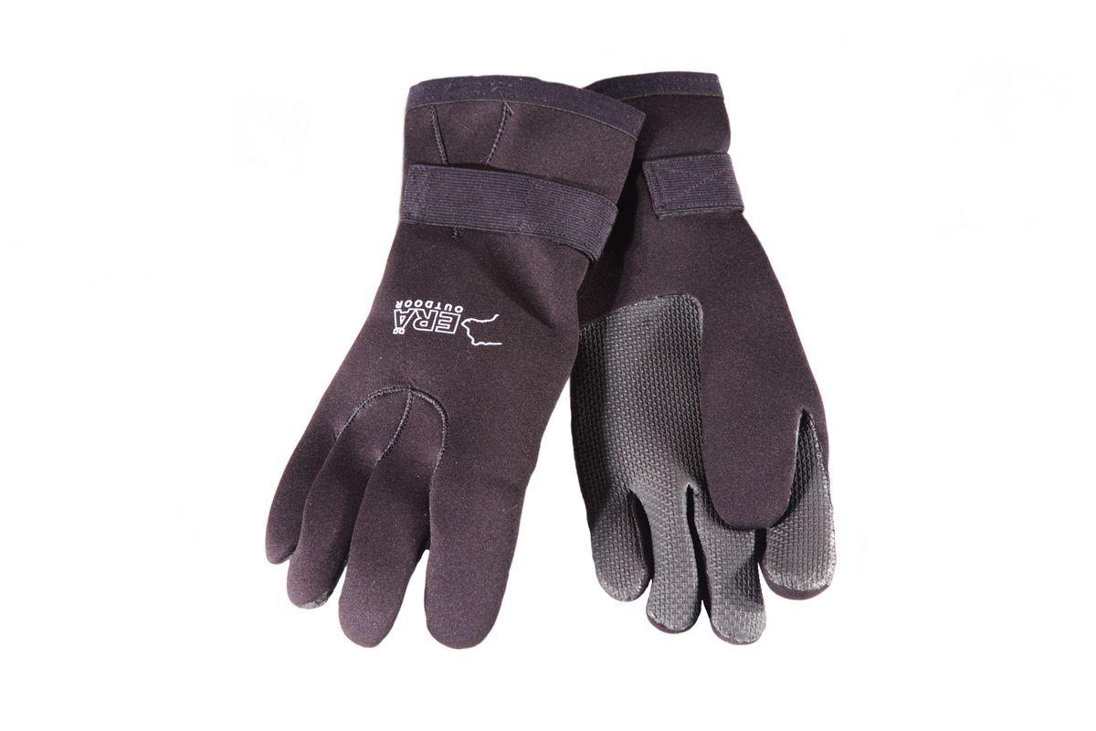 Перчатки для рыбалки3038Перчатки неопреновые для зимней рыбалки Era Outdoor. Состав:90% неопрен, 10% нейлон. Усиленная ладонь.Застёжка на запястье.Мягкая подкладка. Внимание! Перчатки имеют ограниченную степень защиты от воды.