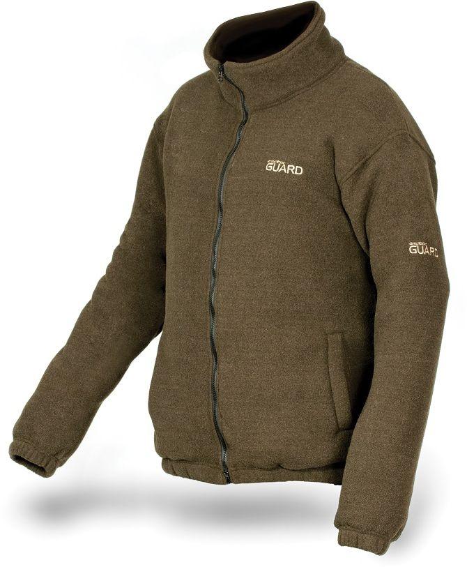 Куртка рыболовная810Теплая и комфортная куртка изготовлена из двухслойного флиса с высоким горлом. Модель оформлена воротником-стойкой, длинными рукавами и дополнена двумя резными карманами.
